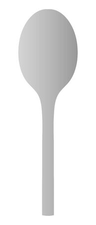 Isolated vector illustration of spoon