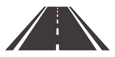 Straight roadway isolated vector illustration Vettoriali