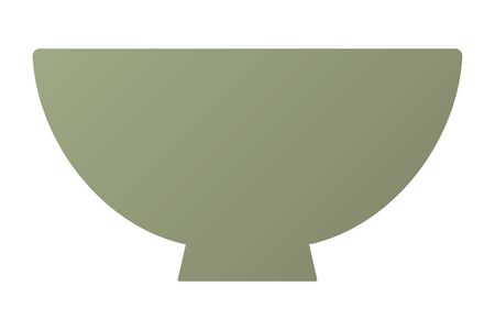 A bowl isolated vector illustration.