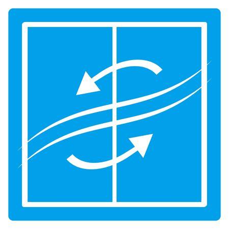Ventilation arrows isolated vector icon. Vetores