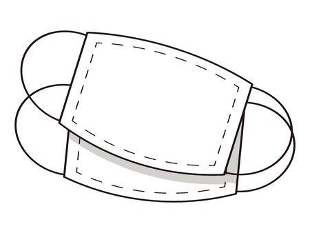 Gauze mask isolated vector illustration.
