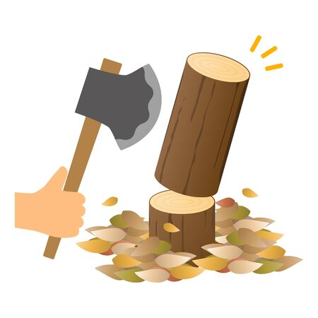 Isolated vector of lumberillustration.