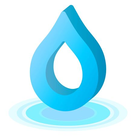 Water drop isolated vector illustration.