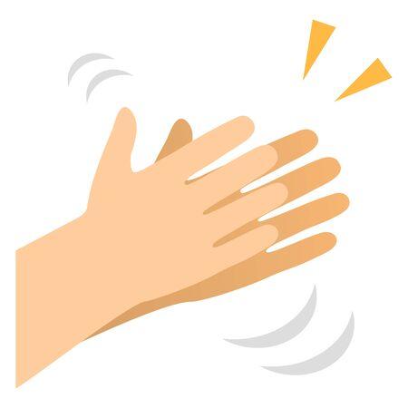 hand clap  イラスト・ベクター素材