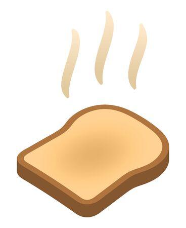 Baked toast isolated vector illustration
