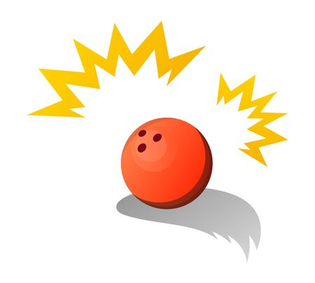 Bowling Ball Isolated Vector Illustration.