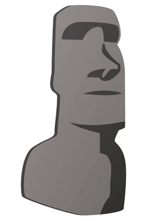 moai statue Illustration