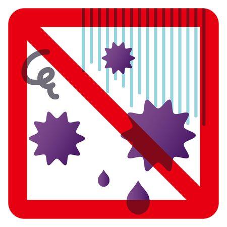 anti-virus (mark)  illustration. Ilustração