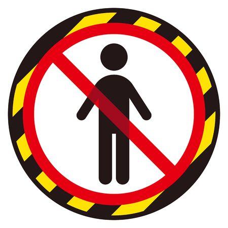 anti-personnel sign Vettoriali