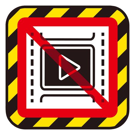 No play video sign