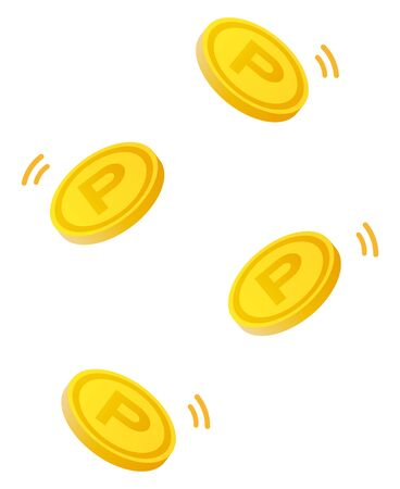 point coins  illustration.