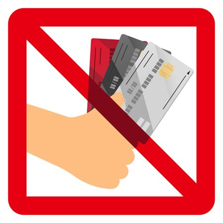 No credit card sign 矢量图像