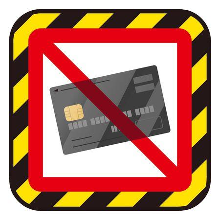 No credit card sign Vectores