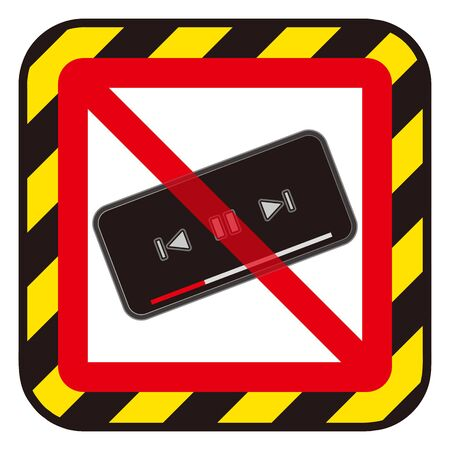 No smart phone videos sign