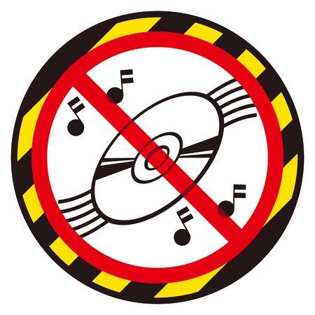 No CD sign