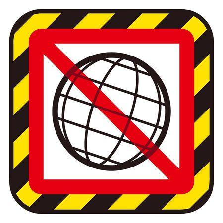no network sign