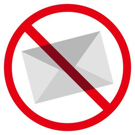 no mail sign Ilustração