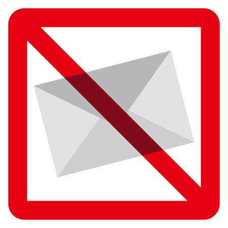 no mail sign 矢量图像