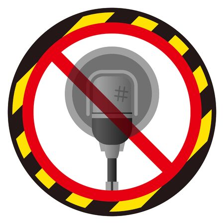 No Audio Microphone sign