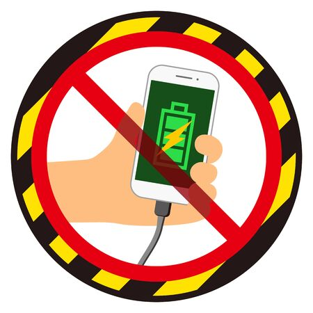 No smart phone charging sign