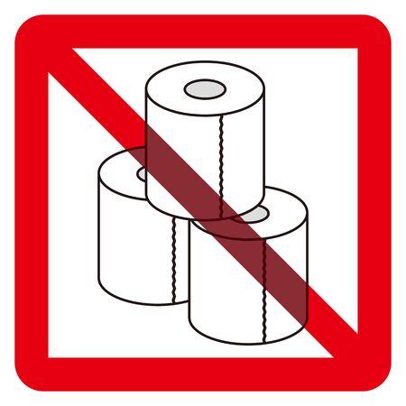 No toilet paper sign Иллюстрация