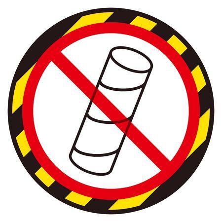 No Toilet paper core sign