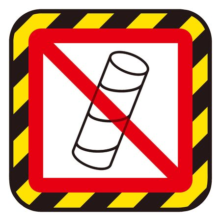 No Toilet paper core sign