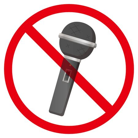 No microphone sign