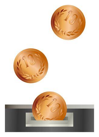 10 yen insertion slot