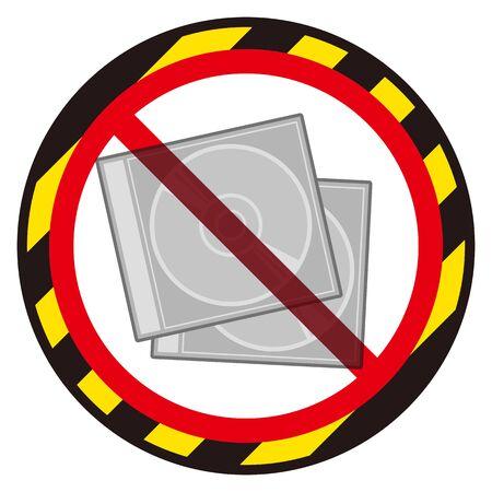 No disc cases sign