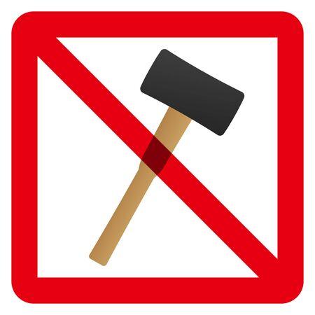 No hammer sign Reklamní fotografie - 147845377