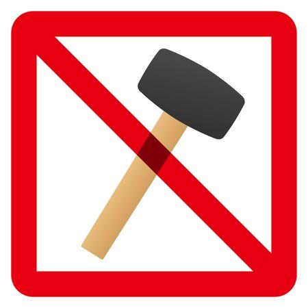 No hammer sign Vector Illustratie
