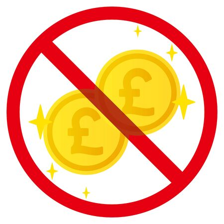 No pound coins sign