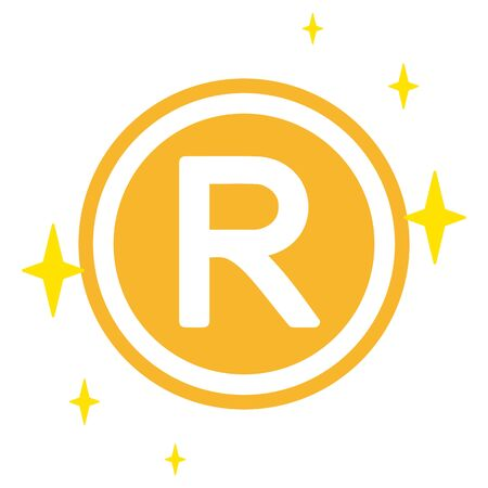 The South African Rand currency symbol
