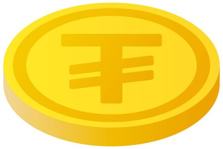 The Tugrik currency symbol coin