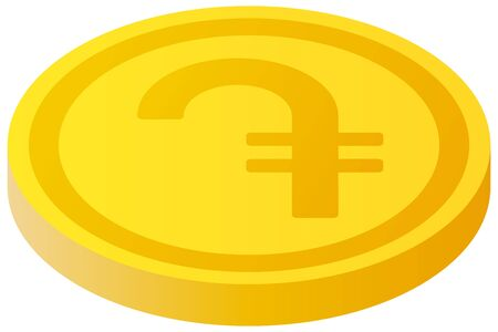 The Dram currency symbol coin Vector Illustration