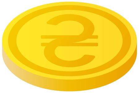 The Ukrainian Hryvnia currency symbol coin