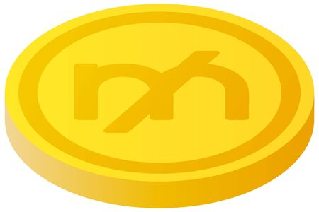 The Mill currency symbol coin