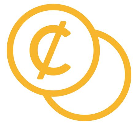 The Cent currency symbol Illusztráció
