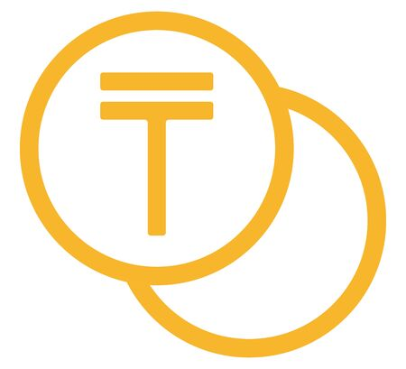 The Tenge currency symbol