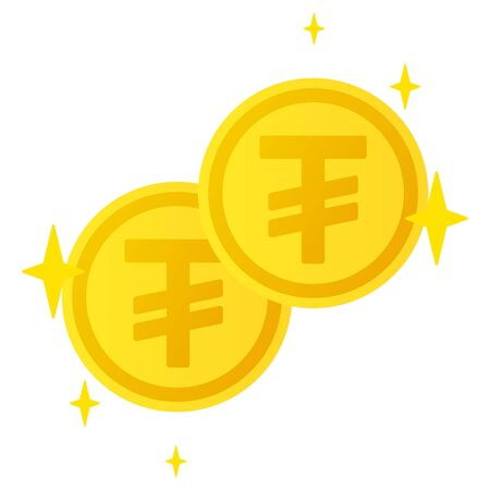 The Tugrik currency symbol coins