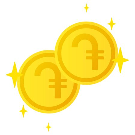 The Dram currency symbol coins