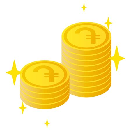 The Dram currency symbol coins Vector Illustration