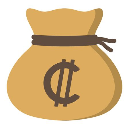 Money drawstring bag (colon) Ilustrace