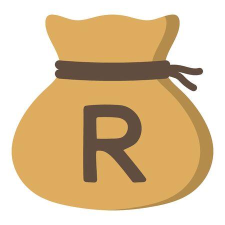 Money drawstring bag ( south african rand )