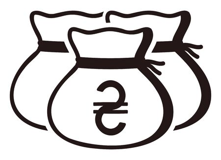 Money drawstring bags ( ukrainian hryvnia )