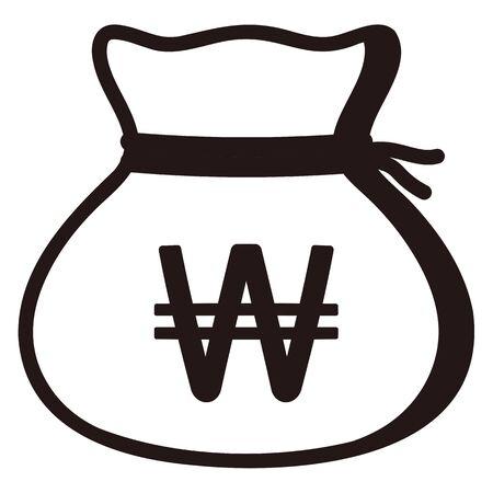 Money drawstring bag ( korean won )
