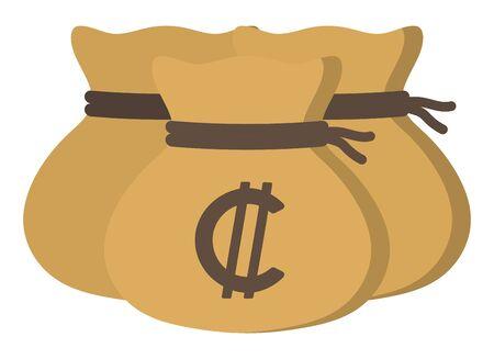 Money drawstring bags (colon)