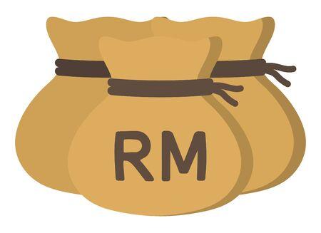 Money drawstring bag ( malaysian ringgit )