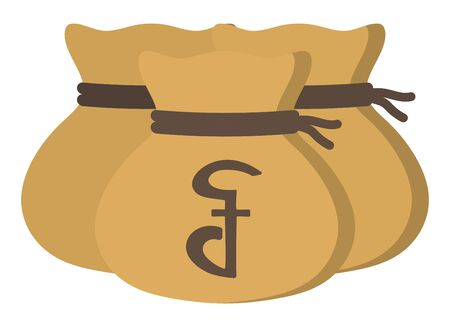 Money drawstring bag ( cambodian riel ) 向量圖像